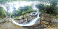 白谷雲水峡の飛流おとしのVRパノラマ