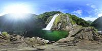 大川の滝のVRパノラマ 10247019799| 写真素材・ストックフォト・画像・イラスト素材|アマナイメージズ