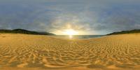 永田いなか浜夕景のVRパノラマ 10247019802| 写真素材・ストックフォト・画像・イラスト素材|アマナイメージズ