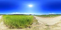 ビール麦畑とジャガイモ畑のVRパノラマ