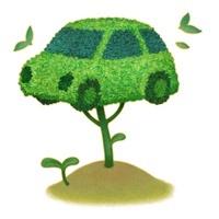 イラストの自動車型の樹木と双葉のエコイメージ 10248001464| 写真素材・ストックフォト・画像・イラスト素材|アマナイメージズ
