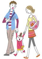 イラスト 女の子と夫婦 10248008924| 写真素材・ストックフォト・画像・イラスト素材|アマナイメージズ