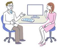 病院の医者と患者イラスト