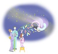 七夕の浴衣の家族 10248013577| 写真素材・ストックフォト・画像・イラスト素材|アマナイメージズ