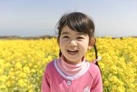菜の花畑の子ども