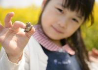 蛙を持つ子ども 10264006016| 写真素材・ストックフォト・画像・イラスト素材|アマナイメージズ