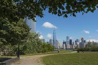 ニュージャージーからハドソン川を挟んでのマンハッタン摩天楼