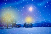 雪が積もった町 クリスマス