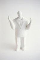 ビジネスマンのクレイ人形 白