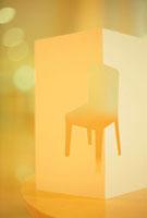 椅子イメージ オレンジ クラフト