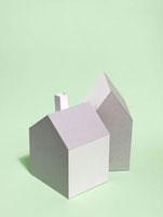 2棟の家 10268000368| 写真素材・ストックフォト・画像・イラスト素材|アマナイメージズ