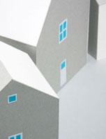 2棟の家 10268000375  写真素材・ストックフォト・画像・イラスト素材 アマナイメージズ