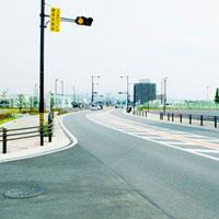 ニュウタウンの新しい道路
