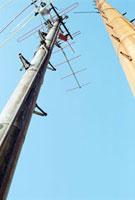 横浜港の古いテレビアンテナ