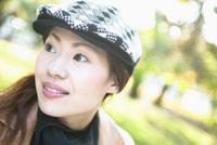 日本人女性のアップ