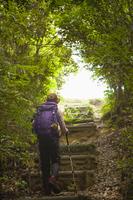トレッキングをする女性 10272004494| 写真素材・ストックフォト・画像・イラスト素材|アマナイメージズ