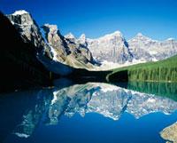 モレーン湖とテンピークス