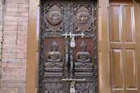 民家の玄関入り口
