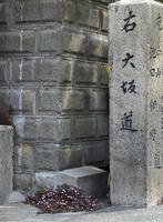 大坂道と書かれた里石道標