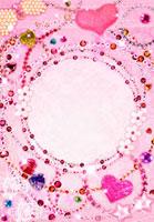キラキラした宝石のコラージュ