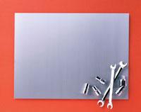 アルミ板と工具