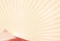 浮世絵の富士山と日の出