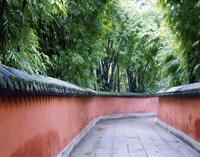 武候祠 赤壁の小道