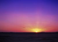 ネフド砂漠の夕日