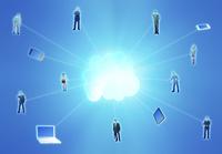 ビジネスマンとクラウドネットワーク 10285002784| 写真素材・ストックフォト・画像・イラスト素材|アマナイメージズ