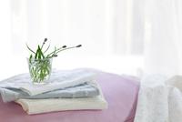 ベッドの上のラベンダー