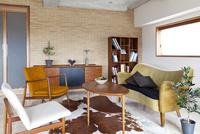 北欧家具のリビングルーム