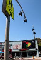 標識と街並