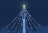星とスカイツリーのクリスマスイメージ