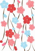 カラフルな梅のコラージュ 10319000055| 写真素材・ストックフォト・画像・イラスト素材|アマナイメージズ