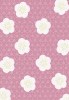 梅の花のコラージュ
