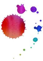 カラフルな水彩絵具のドリッピング