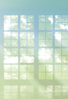 窓から差し込む光のイメージ