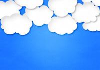 青い紙にたくさんの白い雲