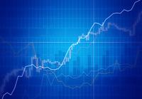 線グラフと株価チャート