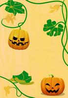 ハロウィンのカボチャと蔓 10319000082| 写真素材・ストックフォト・画像・イラスト素材|アマナイメージズ