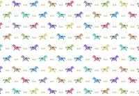 カラフルな馬のパターンイラスト