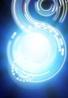 回転する光の軌跡のアブストラクト