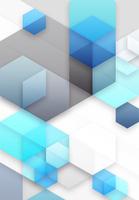 六角形と立方体のアブストラクト