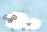 羊の親子 10319000215| 写真素材・ストックフォト・画像・イラスト素材|アマナイメージズ