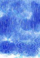 雨と波紋 10319000233| 写真素材・ストックフォト・画像・イラスト素材|アマナイメージズ