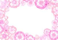 ピンクのお花のフレーム