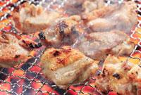 地鶏の炭焼き