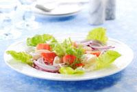 帆立とサーモンのサラダ