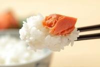 ごはんと焼き鮭 10323004262  写真素材・ストックフォト・画像・イラスト素材 アマナイメージズ