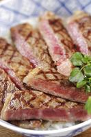 ステーキ丼 10323005361| 写真素材・ストックフォト・画像・イラスト素材|アマナイメージズ